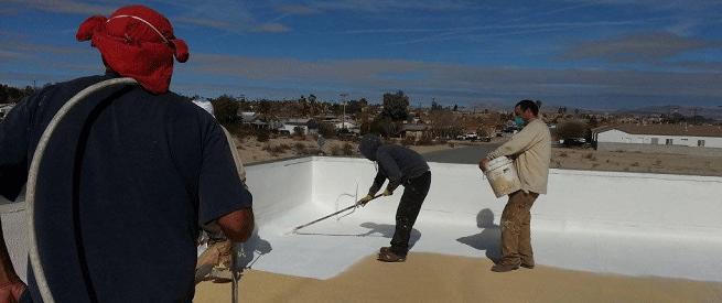 Foam Roofing Installation
